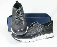 Cole Haan Zerogrand Perforated Sneaker Mens Black and White Shoes Size 9 10 10.5