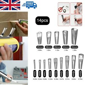 15pcs Caulking Finisher Profession Nozzle Glue Filler Silicone Sealant Tool Set