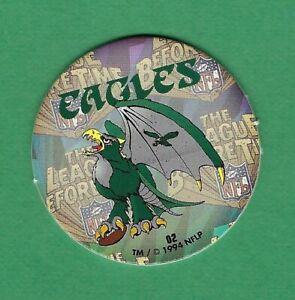 1994 NFLP Team POGS PHILADELPHIA EAGLES #02 Boink Street Caps