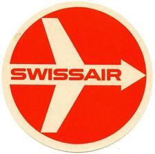 Vintage Swissair Airlines Switzerland Luggage Label Swiss Geneva Zurich