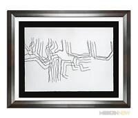 Eduardo CHILLIDA Stone ORIGINAL Lithograph DOUBLE  +Gallery FRAME