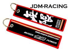 JDM MUGEN POWER DOUBLE SIDE Racing Cell Holders Keychain Universal HONDA RED