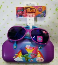 Dreamworks Trolls Sunglasses and Case Ages 3+ 100% UV Protection Poppy Branch