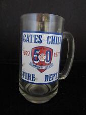 Gates Chili NY Fire Dept Commemorative Glass