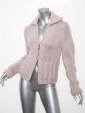 MARC JACOBS Womens Pale Lilac Wool+Cashmere Chunky Knit Cardigan Sweater S