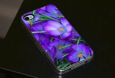 Purple Crocus Flowers Phone Case Fits iPhone 4 4s 5 5s 5c 6