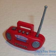 Playmobil Moderne Maison/City Life-EXTRAS-Rouge & Argent Radio-Neuf