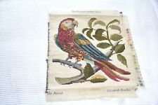 FAB! Vintage completed needlepoint tapestry Elizabeth Bradley Pete The Parrot
