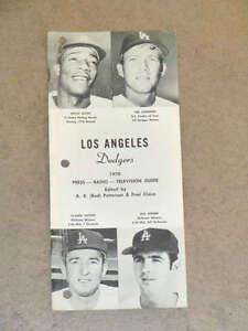 LOS ANGELES DODGERS MEDIA GUIDE - 1970
