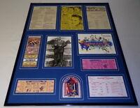 Kansas Basketball 16x20 Framed Memorabilia Display Tickets Naismith Phog Allen