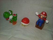 lot x3 figurines Nintendo McDo -2017- Mario Yoshi Carapace rouge