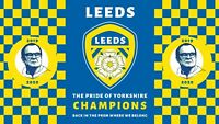 Leeds Champions Flag. 2020 Winners. Picture of Bielsa. Large Flag