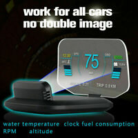Universal Car HUD Display OBD2+GPS Head Up Display High Definition Speedometer