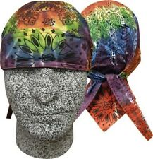 Tie Tye Dye Paisley Rainbow Doo Rag Headwrap Skull Cap Sweatband Capsmith CDL410