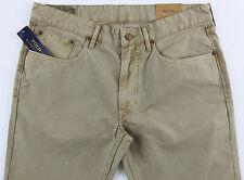 Men's POLO RALPH LAUREN Khaki Jean-Style Pants 36x34 NWT NEW Slim Straight