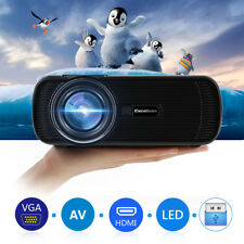 Mini HD LED Projector HomeTheater Cinema 4K 3D HDMI/VGA/USB/AV/ATV/SD Multimedia