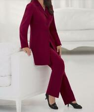 Women's Business Office Work Cocktail Career Day dress 2PC Pant Suit plus 24W 3X