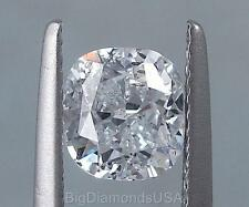 1.50 CARATS CUSHION CUT CERTIFIED LAB GROWN DIAMOND D SI2
