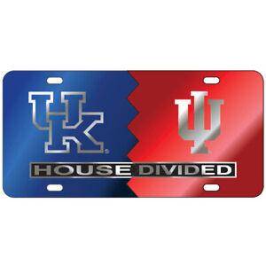UK Kentucky / IU Indiana HOUSE DIVIDED License Plate / Car Tag