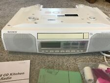 Sony ICF-CD513 Under Cabinet Clock/Radio/AM/FM/CD w/ Template Tested/Works