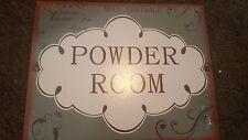 Powder Room métal rétro signe