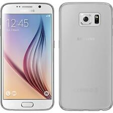Silicone Case for Samsung Galaxy S6 transparent Crystal Clear + protective foils