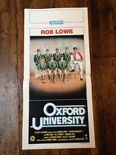Oxford University locandina poster Oxford Blues Rob Lowe Canottaggio Divisa