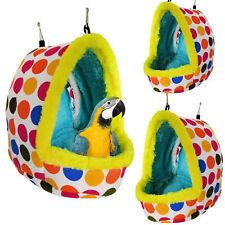 Sleep Bird Hut Toy Cotton Nest Pet Hammock Hang Cave Bed Parrot Tent Cage Warm