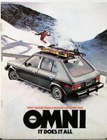 1978 Dodge Omni Color Sales Brochure MAILER Original