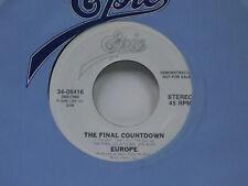 Europe 45 THE FINAL COUNTDOWN bw same   EPIC VG+