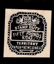 PNG  stamp duty  revenues  black  £50