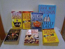 Lot of 7 Diane Mott Davidson Murder Mystery Paperback Books, One Hardback