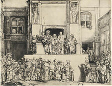 Rembrandt Reproductions: Christ Presented to the People: Fine Art Print