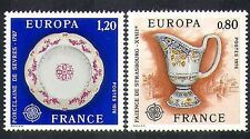 France 1976 Europa/Ceramics/China/Porcelain/Plate/Jug/Art/Craft 2v set (n37368)