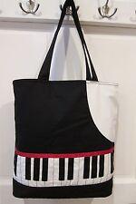 Piano Tote Bag Gifts Piano Keys Music 100% Cotton Large Music Bag Music Gift Bag