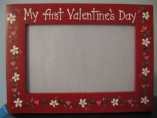 MY FIRST VALENTINE'S DAY HEARTS - baby  love picture photo frame