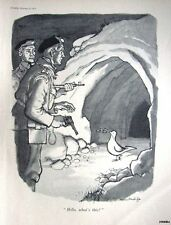 1958 MANSBRIDGE Punch Cartoon Print Cyprus Trouble - 'Peace Dove & Olive Branch'