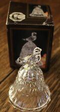 "Vintage Echt Bleikristall Lead Crystal Bell Bird On Top Western Germany 4"" Tall"