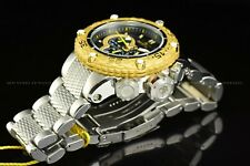 Invicta Men 51mm Special Subaqua Noma VI Chrono Silver 18K Gold Plated  SS Watch