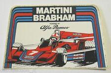 ADESIVO AUTO F1 anni '80 / Old Sticker ALFA ROMEO MARTINI BRABHAM (cm 12 x 7)