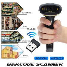 2.4G Sans fil USB Code à Barre Scanner Lecteur Laser Douchette Fit Win7/8/10/MAC