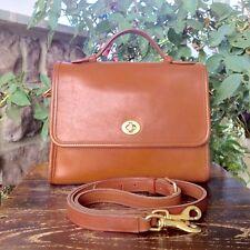 COACH Vintage Classic Court Bag In British Brown Leather Shoulder Purse ~ 9870