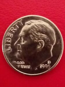 1999 US 1 dime coin. Circulated & Collectable!