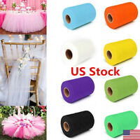"""6""""x 25YD Tulle Roll Spool Tutu Wedding Party Gift Wrap Fabric Craft Decorate USA"""