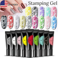 8ML BORN PRETTY Nail Stamping UV Gel Polish Black White Silver Nails Tools