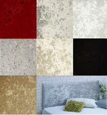 PLAIN CRUSHED VELVET HEADBOARD CHOOSE YOUR SIZE + COLOUR + FREE P & P!!!
