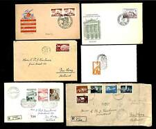 YOUGOSLAVIA 1950/53 --6 x CV /FDC --TO HOLLAND --F/VF -- @2