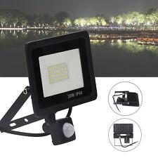 PIR Sensor LED Energy Saving Flood Light Outdoor Security 30W Slimline UK