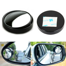 1pc Black HD 360° View Car Adjustable Blind Spot Wide Angle Rear Mirror #035