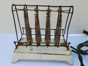 ANTIQUE 1ST COMMERCIAL GENERAL ELECTRIC D-12 TOASTER DATED 1908 WORKS